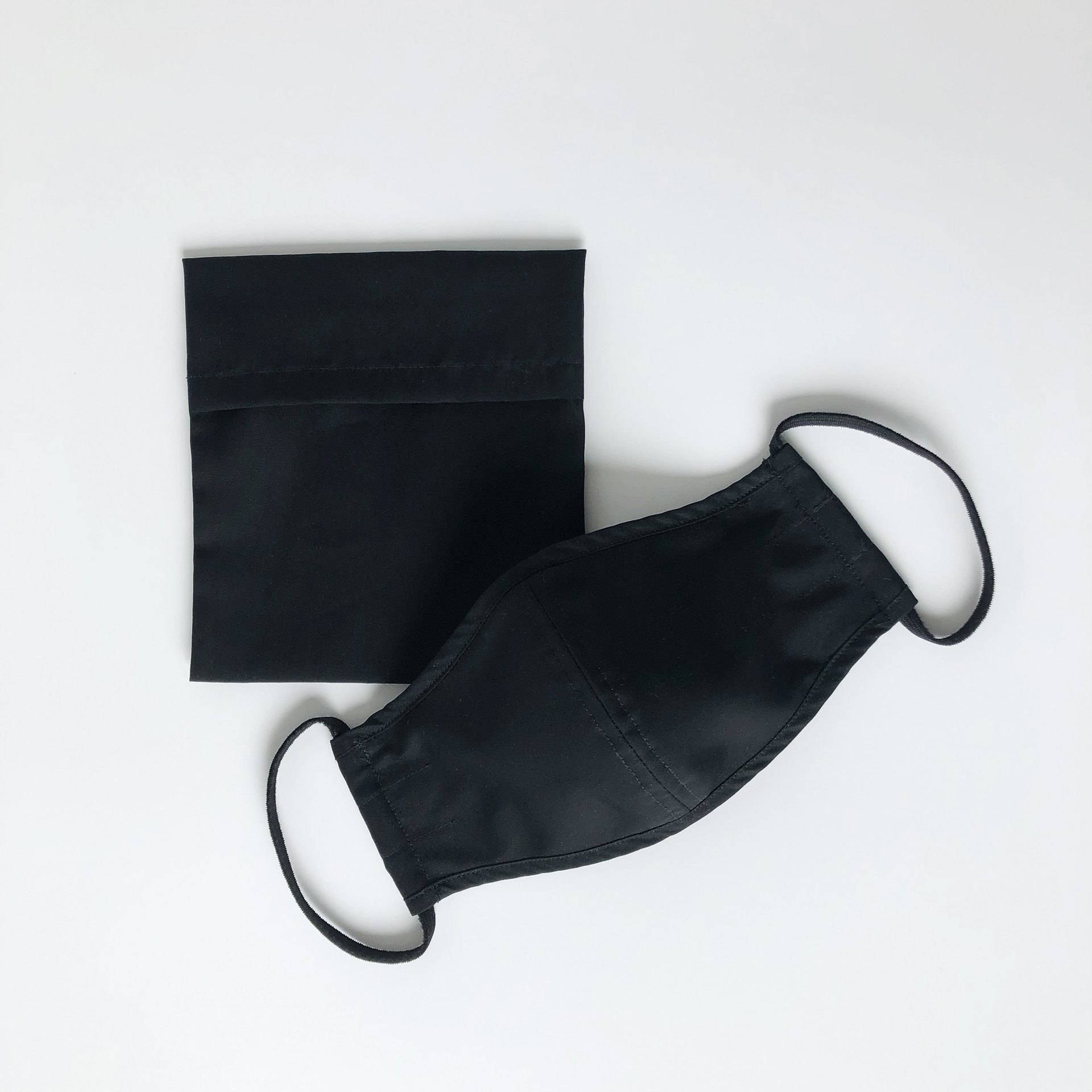 Made For The People - Face Mask and Protective Pouch - Black