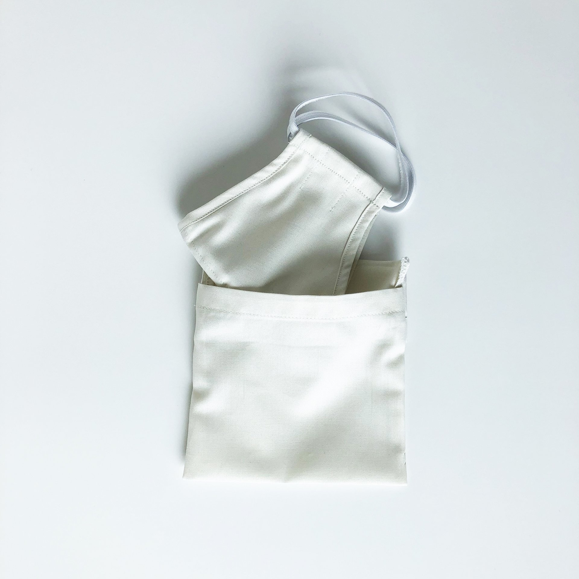 Made For The People - Face Mask and Protective Pouch - Cream