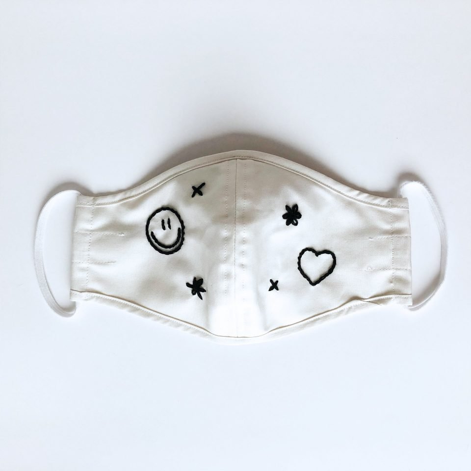 Limited Edition Hand Embroidered Face Mask