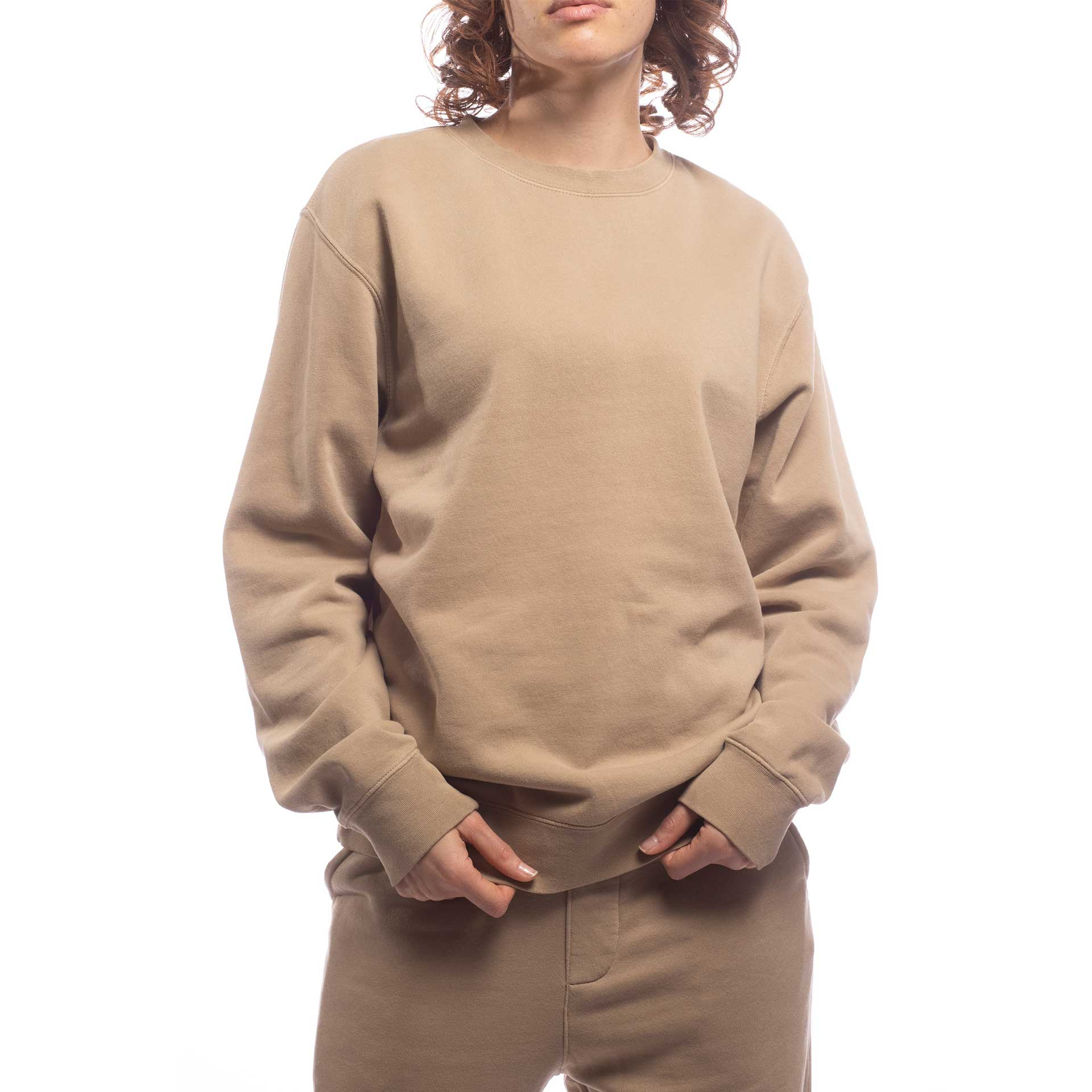 Unisex Upcycled Crew - Made For The People - Brown