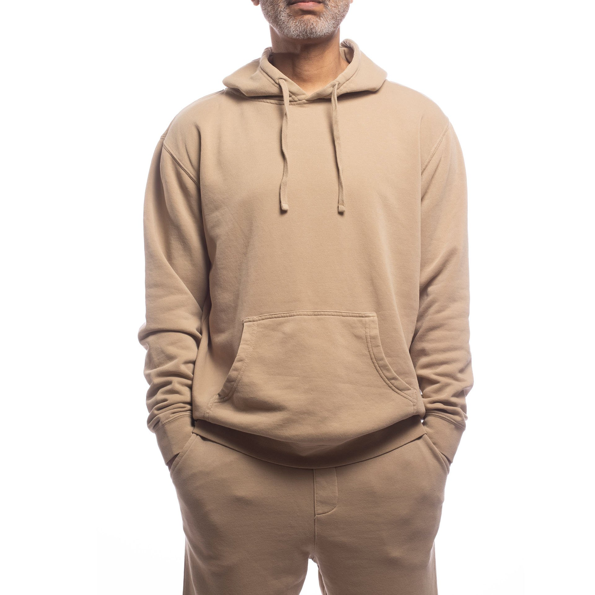 Unisex Upcycled Hoodie - Made For The People - Brown