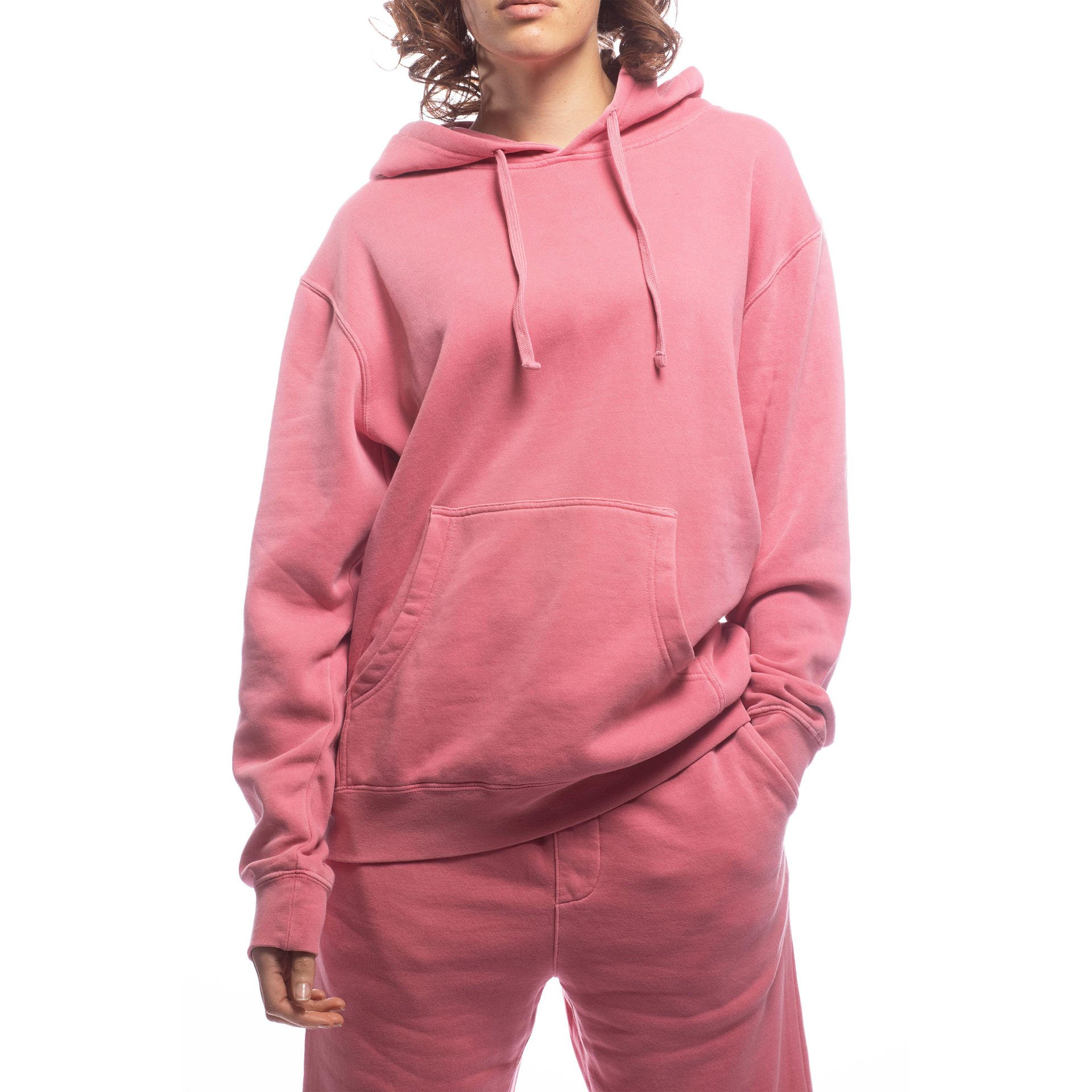 Unisex Upcycled Hoodie - Made For The People - Pink